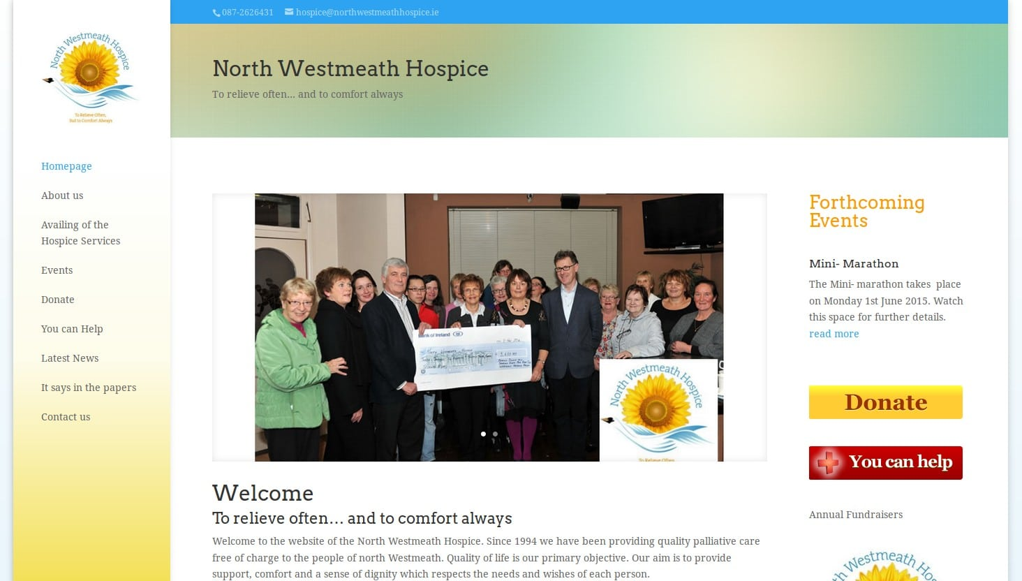 north westmeath hospice website