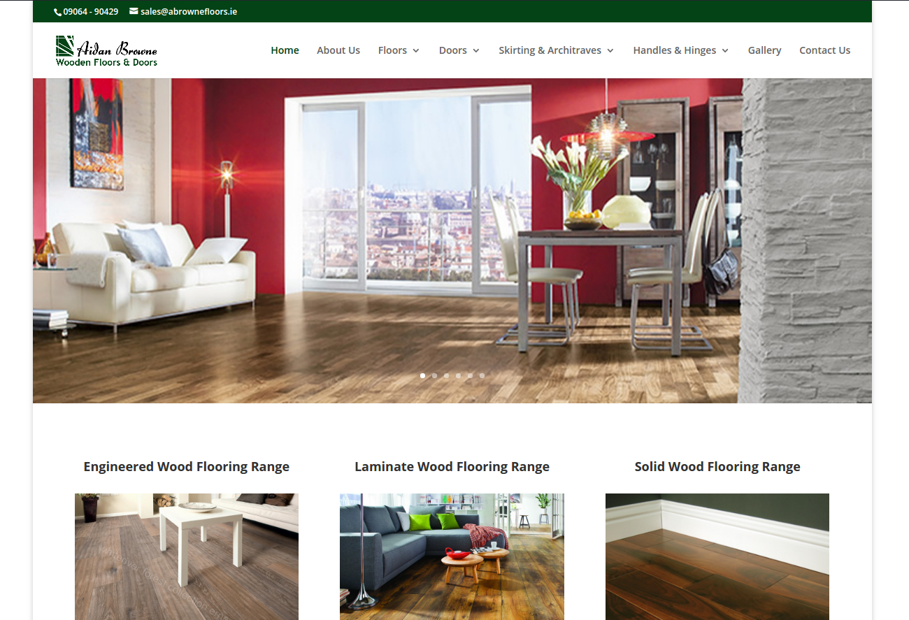 Aidan Browne Wooden Floors and Doors website