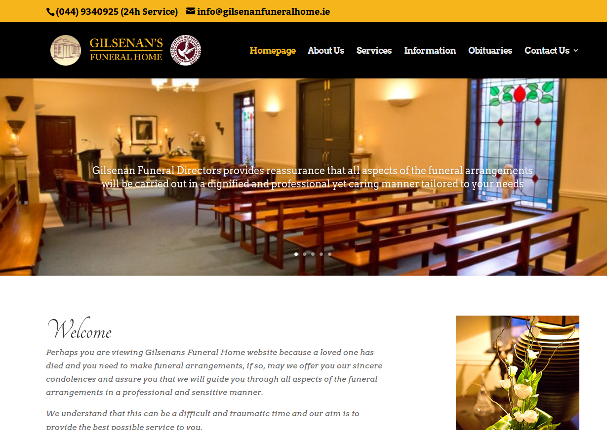 Funeral Directors and Funeral Home Website Design - Handyweb