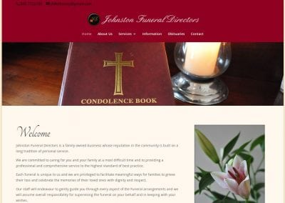 Johnston Funeral Directors Website
