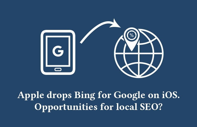 Apple drops Bing for Google on iOS. Opportunity for Local SEO?